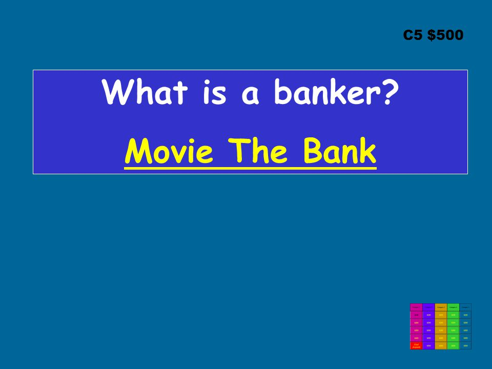 What is a banker Movie The Bank