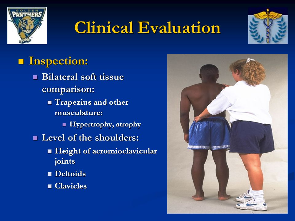 Clinical Evaluation Inspection: Bilateral soft tissue comparison: