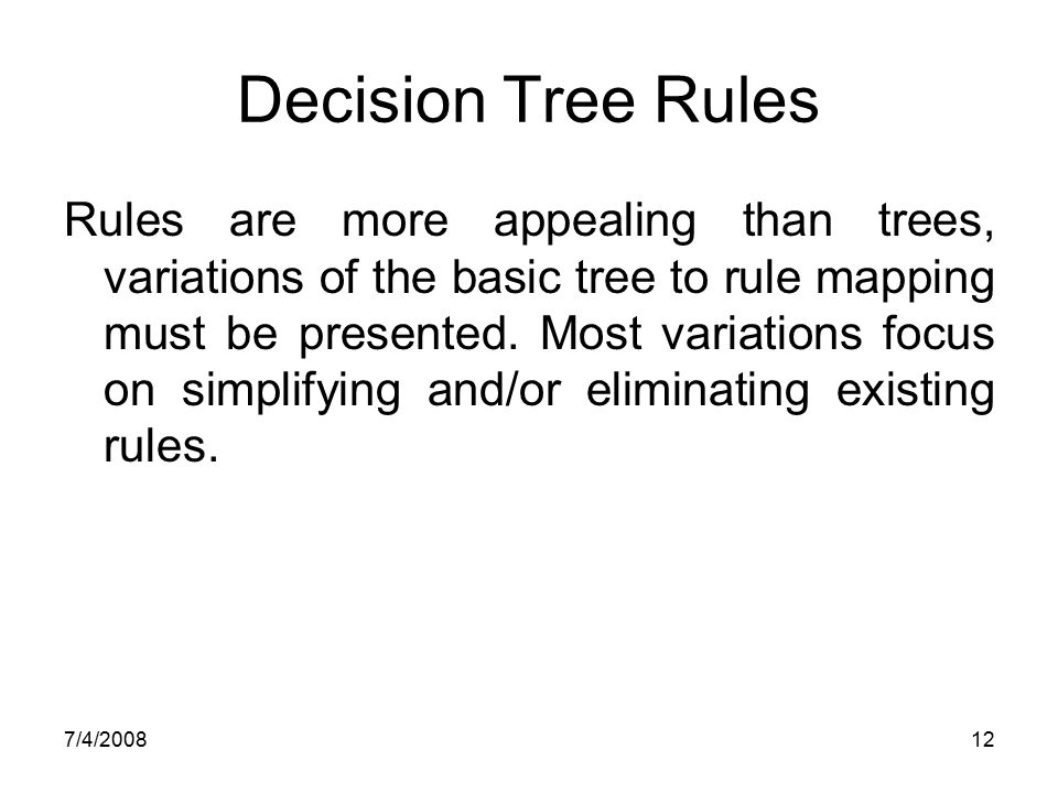 Decision Tree Rules