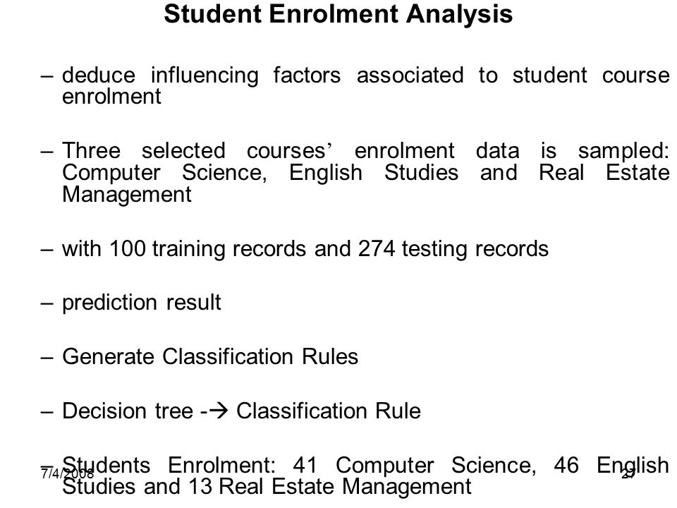 Student Enrolment Analysis