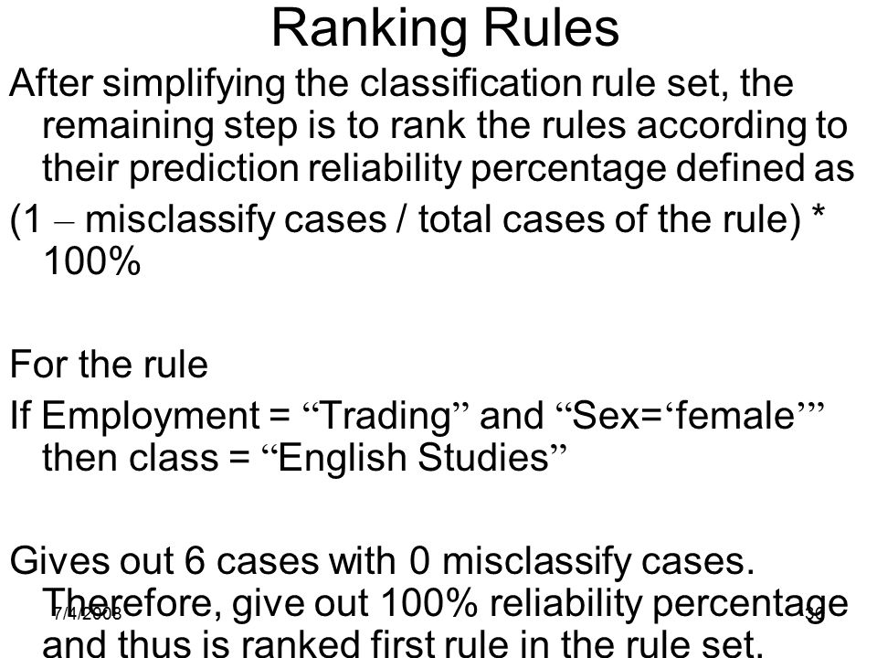 Ranking Rules