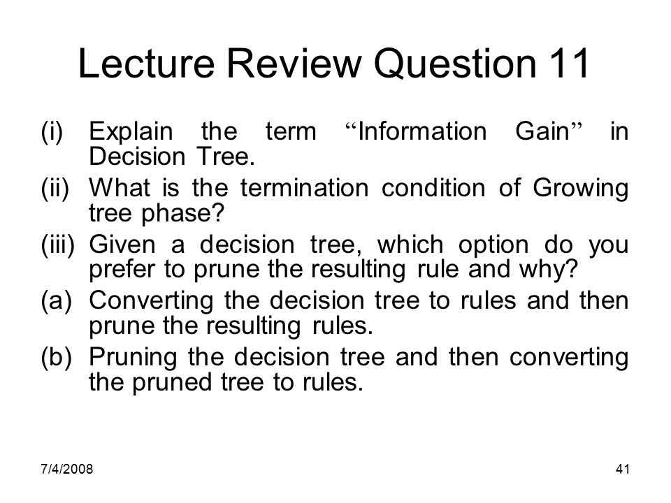Lecture Review Question 11