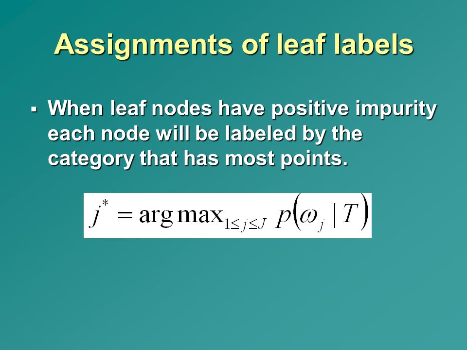 Assignments of leaf labels