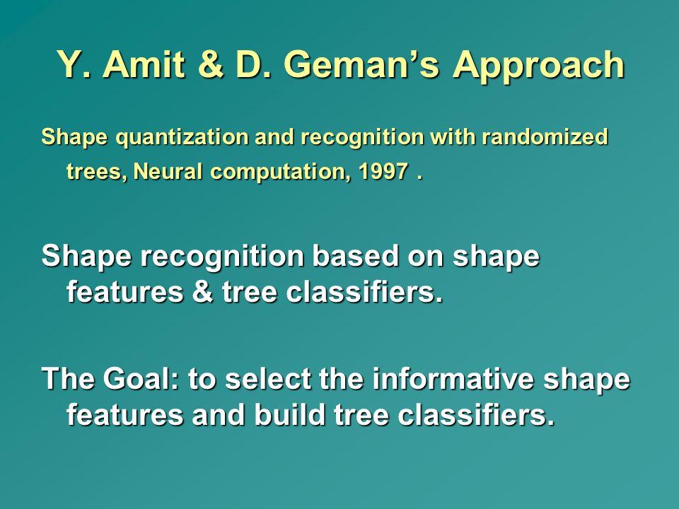 Y. Amit & D. Geman's Approach