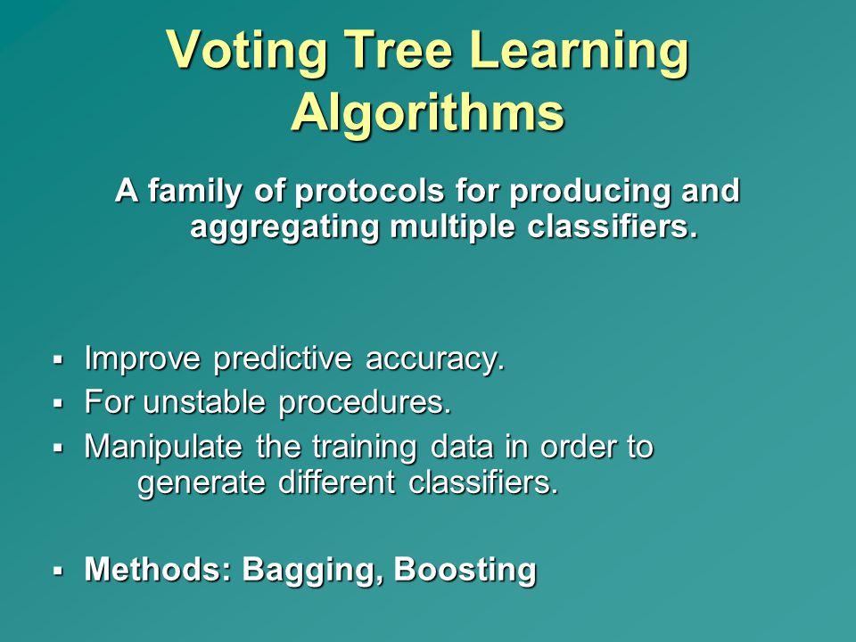Voting Tree Learning Algorithms