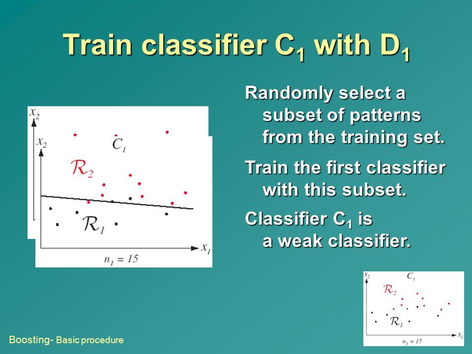 Train classifier C1 with D1