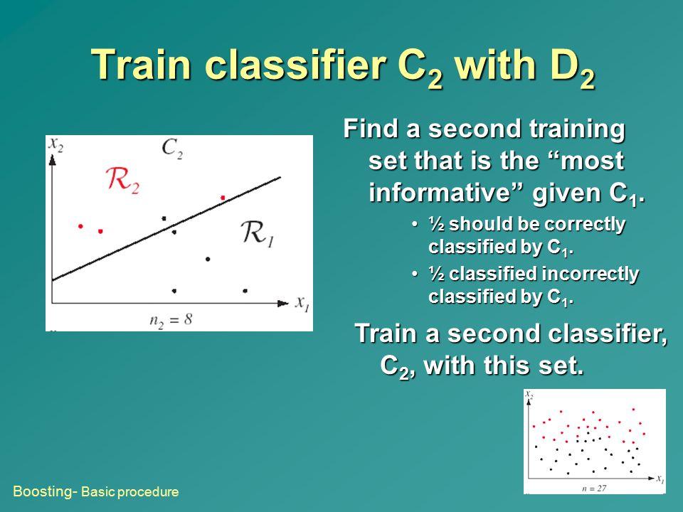 Train classifier C2 with D2