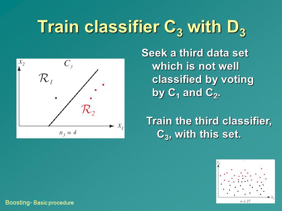 Train classifier C3 with D3
