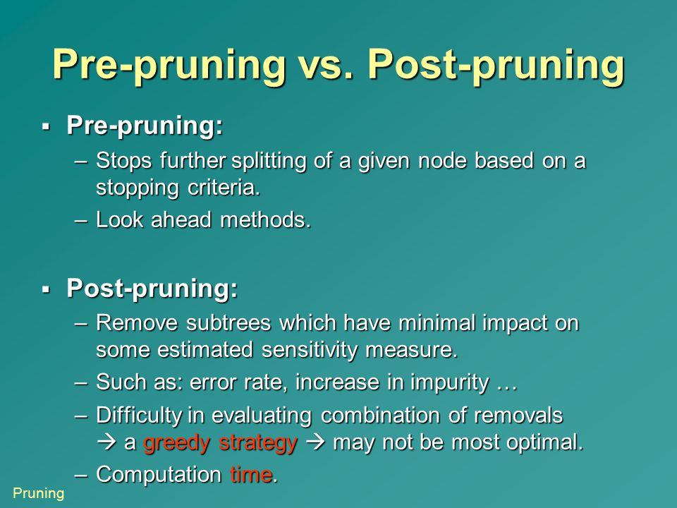 Pre-pruning vs. Post-pruning