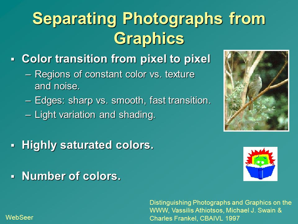 Separating Photographs from Graphics