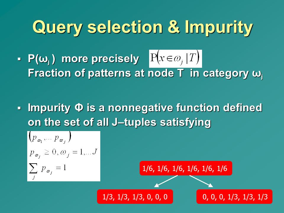 Query selection & Impurity