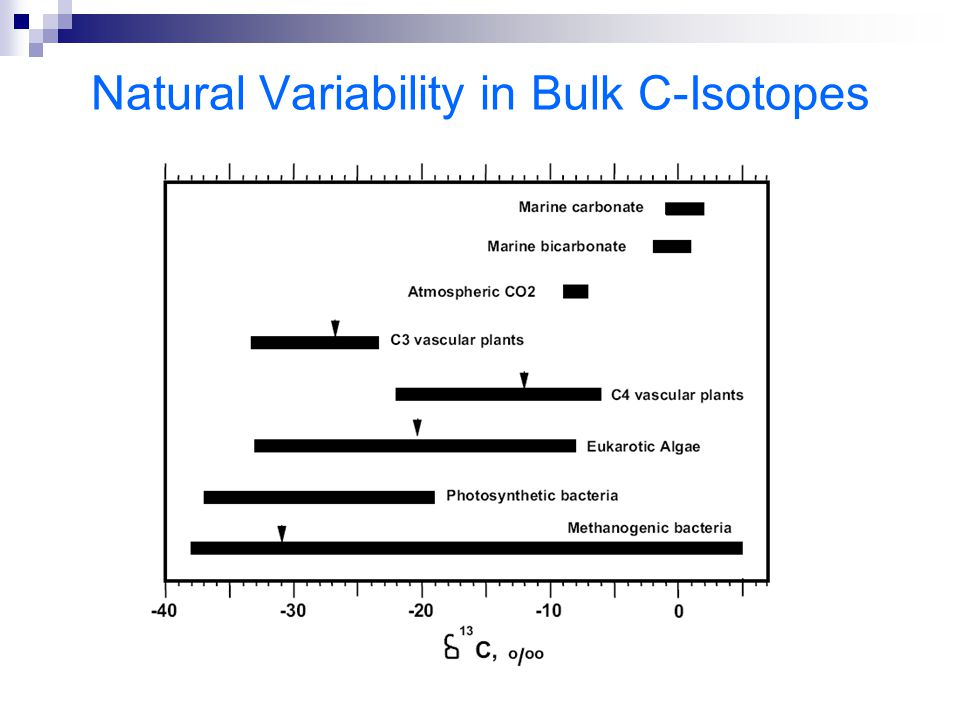 Natural Variability in Bulk C-Isotopes