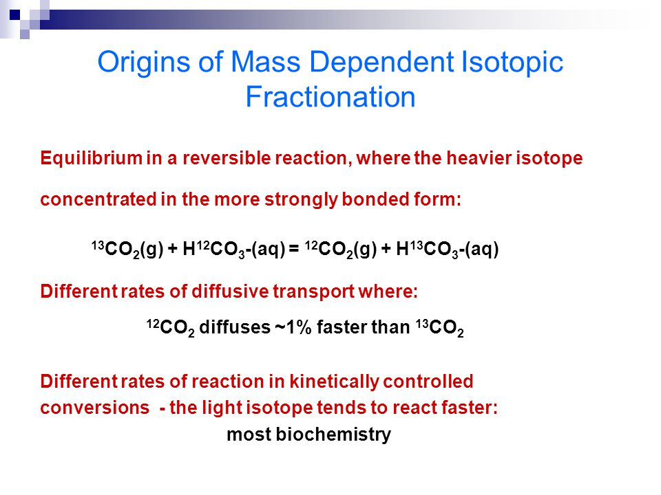 Origins of Mass Dependent Isotopic Fractionation