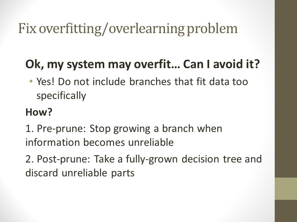 Fix overfitting/overlearning problem