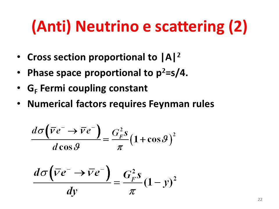 (Anti) Neutrino e scattering (2)