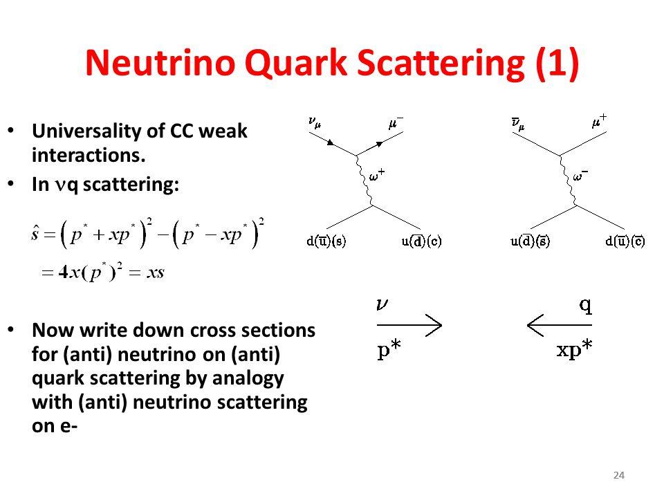 Neutrino Quark Scattering (1)