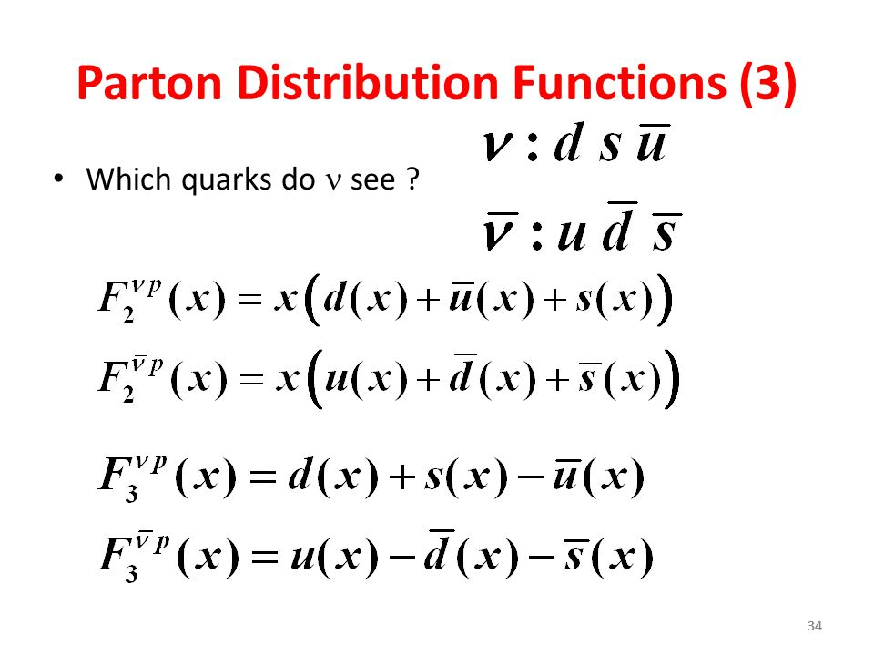 Parton Distribution Functions (3)