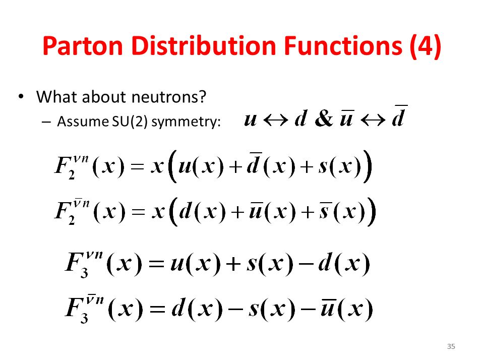 Parton Distribution Functions (4)