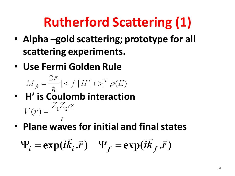 Rutherford Scattering (1)