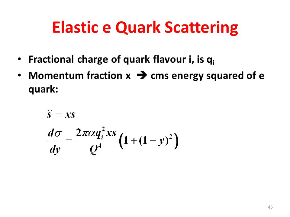 Elastic e Quark Scattering