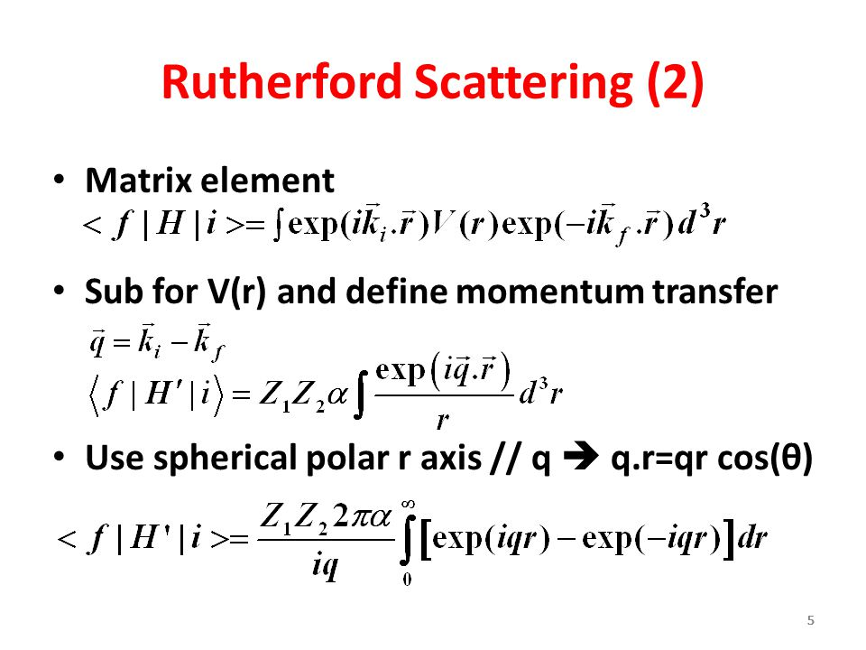 Rutherford Scattering (2)