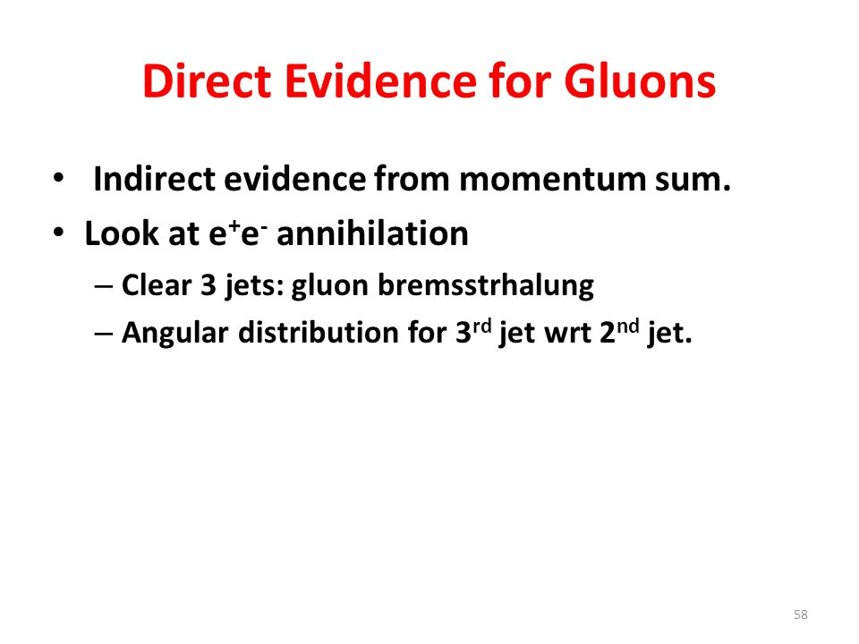 Direct Evidence for Gluons