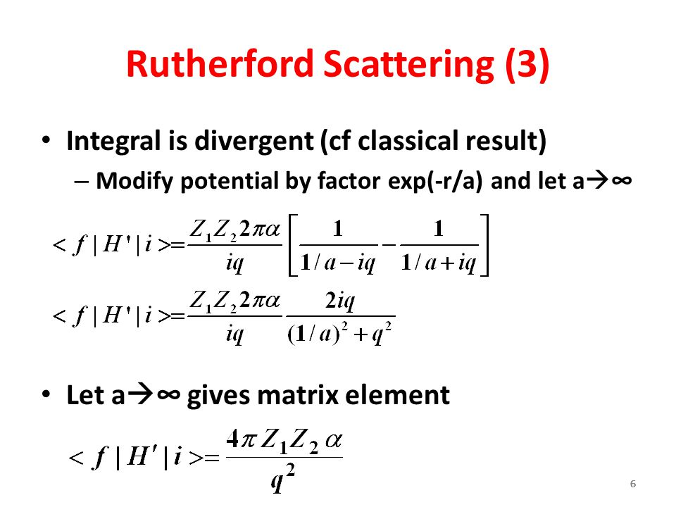 Rutherford Scattering (3)