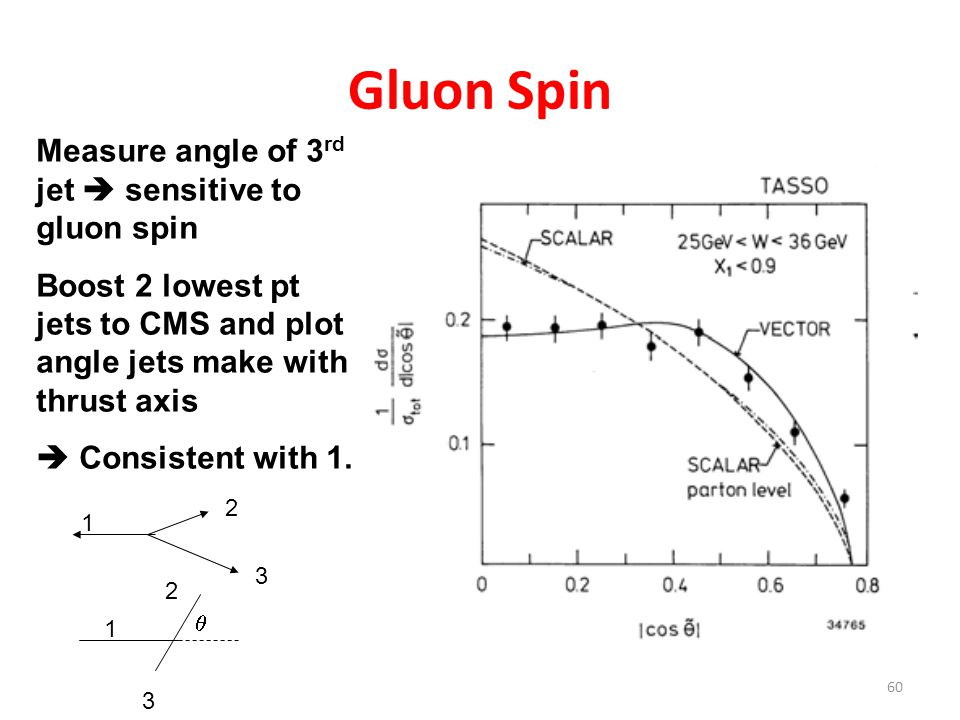 Gluon Spin Measure angle of 3rd jet  sensitive to gluon spin