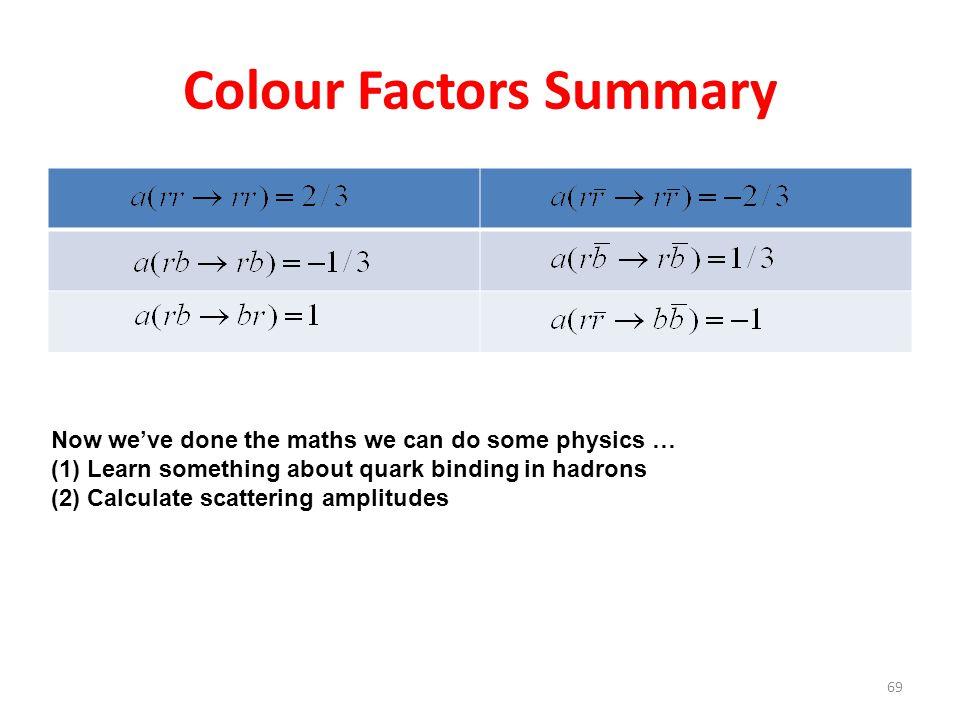Colour Factors Summary
