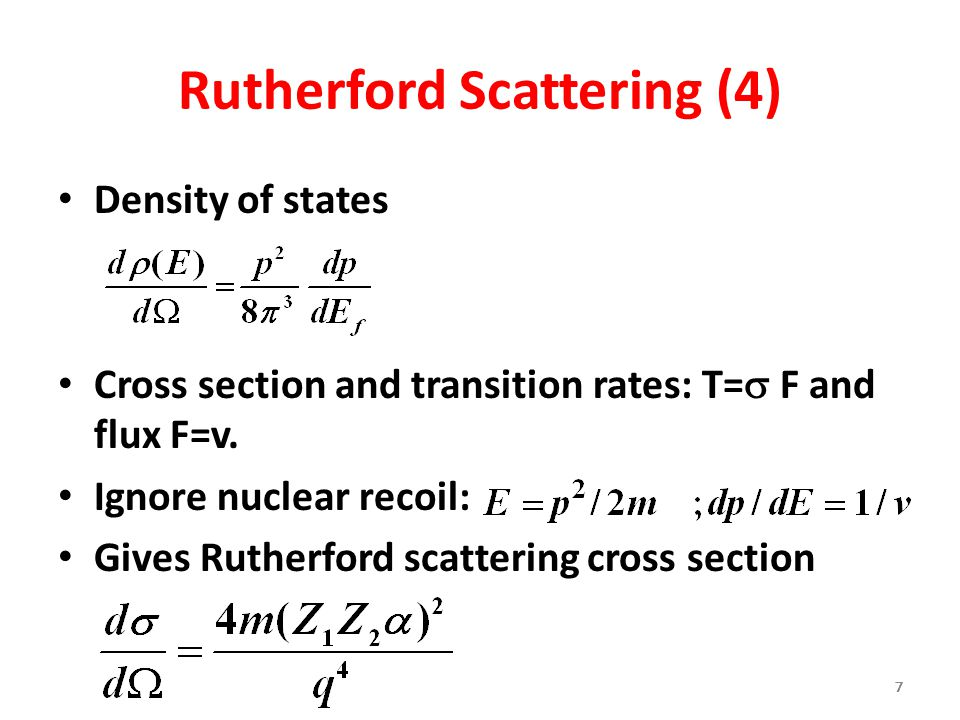 Rutherford Scattering (4)
