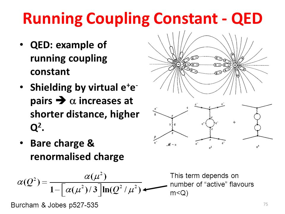 Running Coupling Constant - QED
