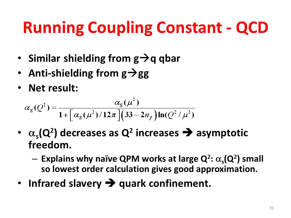 Running Coupling Constant - QCD