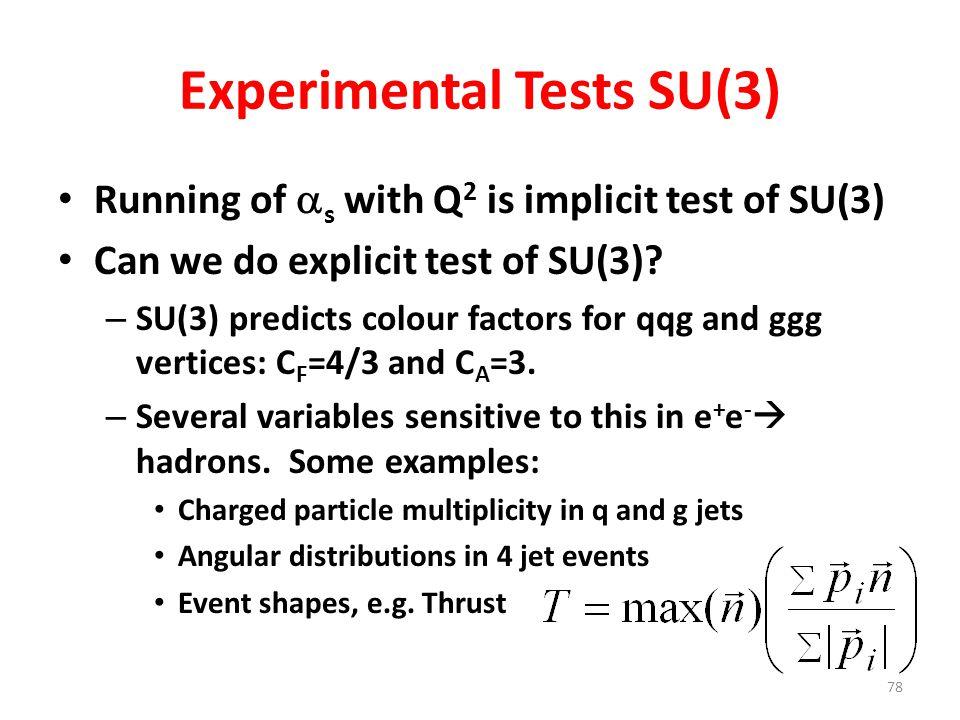 Experimental Tests SU(3)