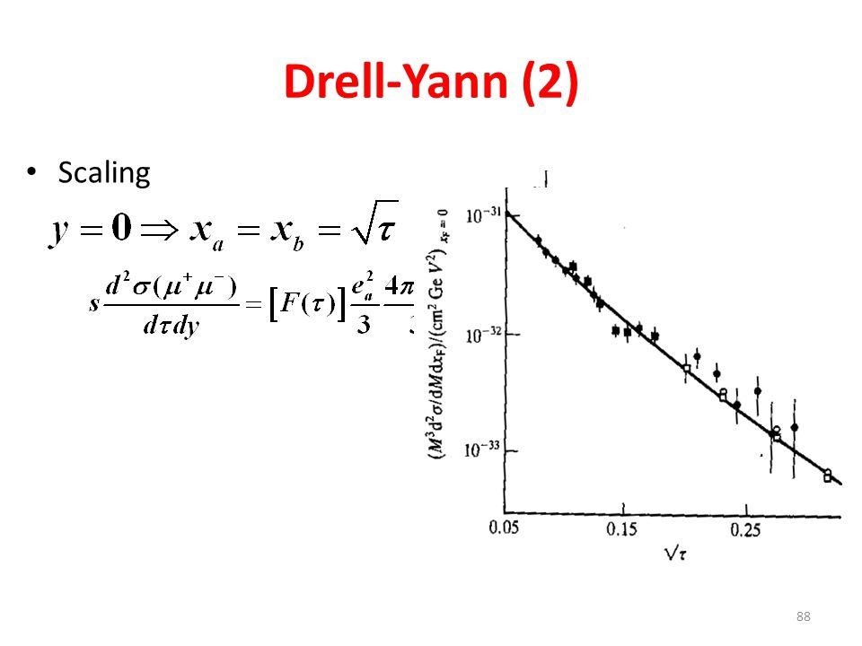 Drell-Yann (2) Scaling