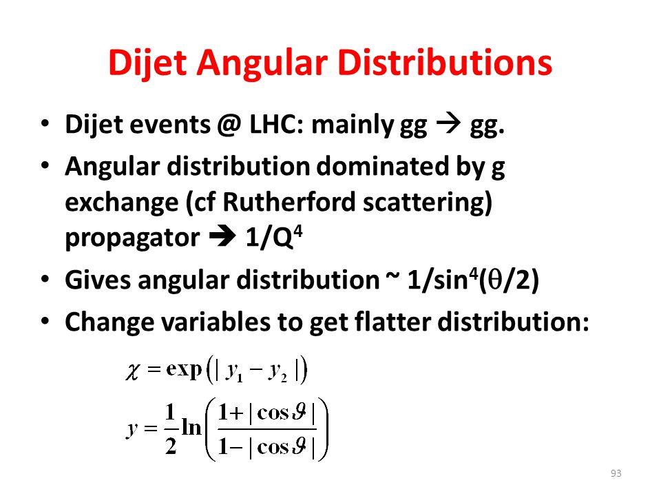 Dijet Angular Distributions