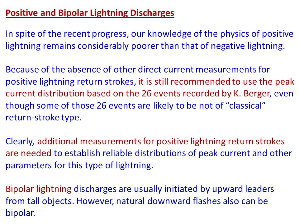 Positive and Bipolar Lightning Discharges