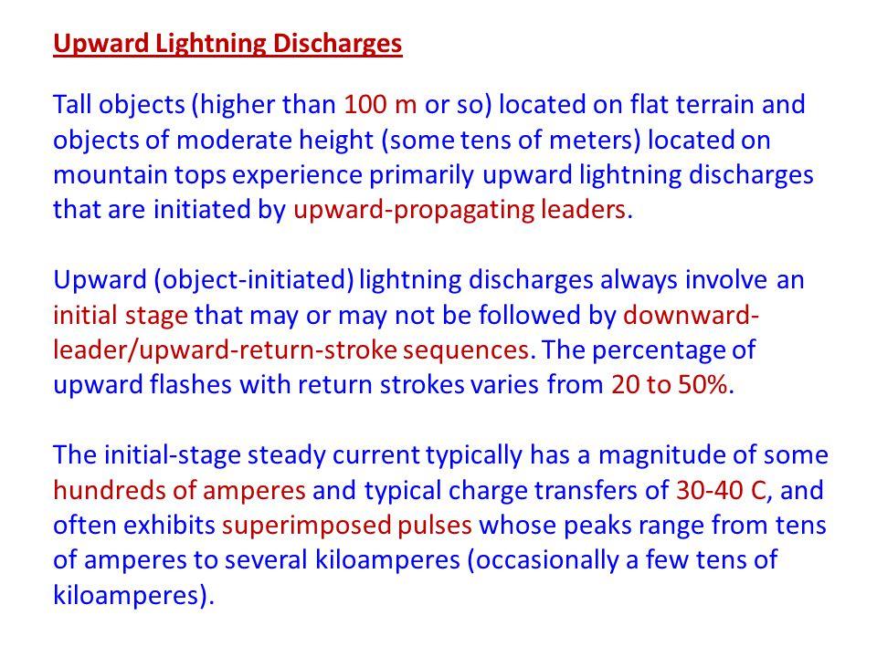 Upward Lightning Discharges