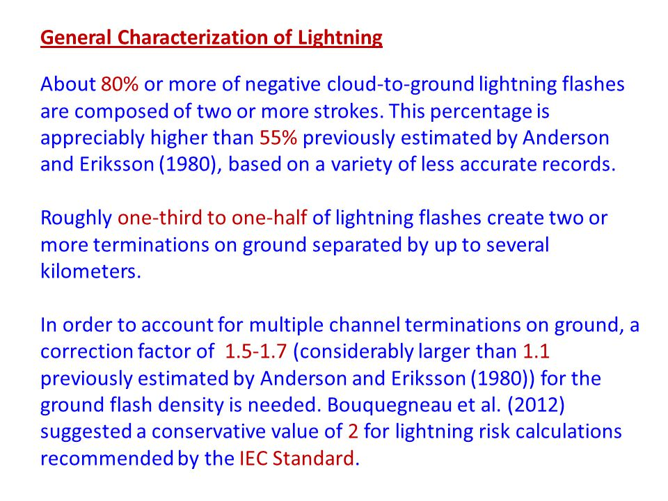 General Characterization of Lightning