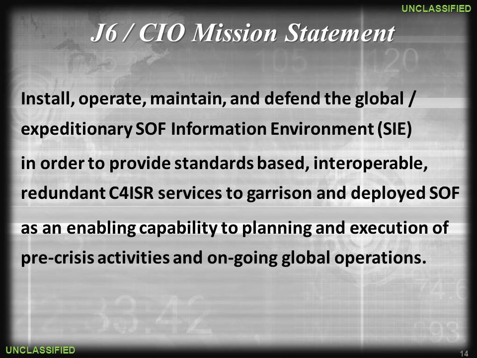 J6 / CIO Mission Statement