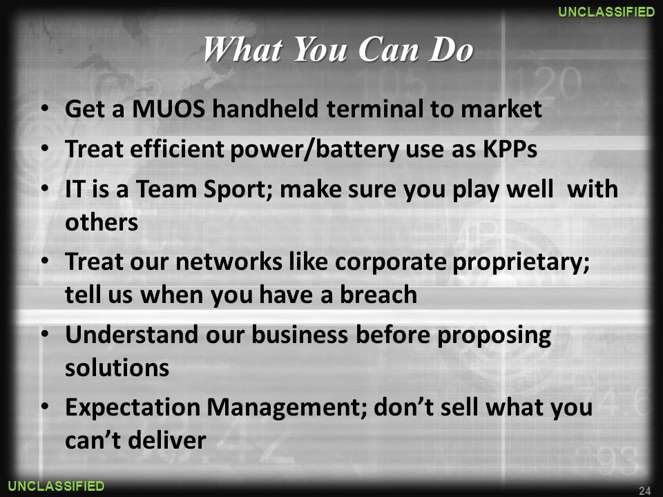 What You Can Do Get a MUOS handheld terminal to market