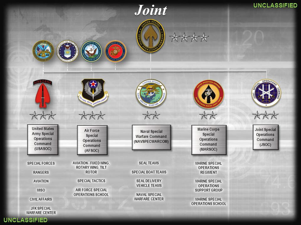 Joint United States Army Special Operations Command Marine Corps