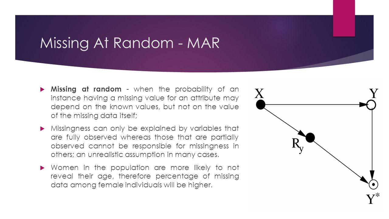 Missing At Random - MAR