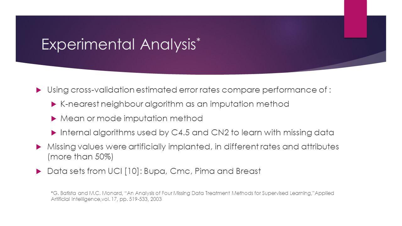 Experimental Analysis*