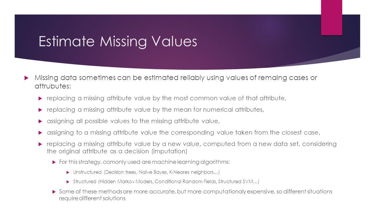 Estimate Missing Values