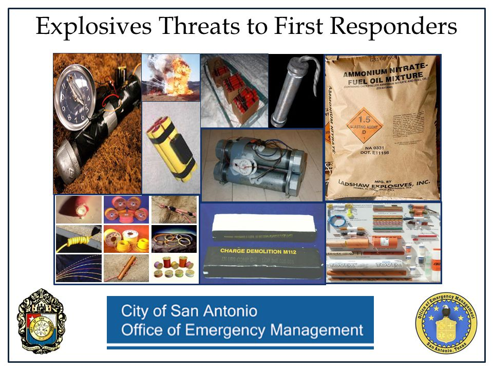 Explosives Threats to First Responders