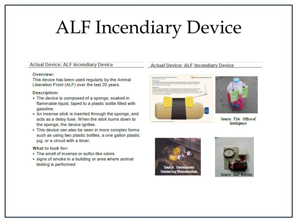 ALF Incendiary Device