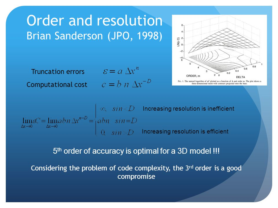 Order and resolution Brian Sanderson (JPO, 1998)