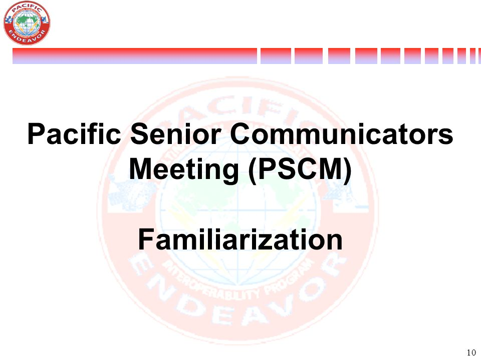 Pacific Senior Communicators Meeting (PSCM)