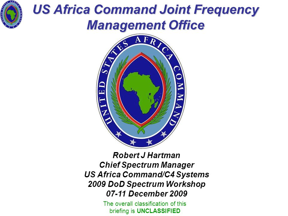 US Africa Command Joint Frequency Management Office