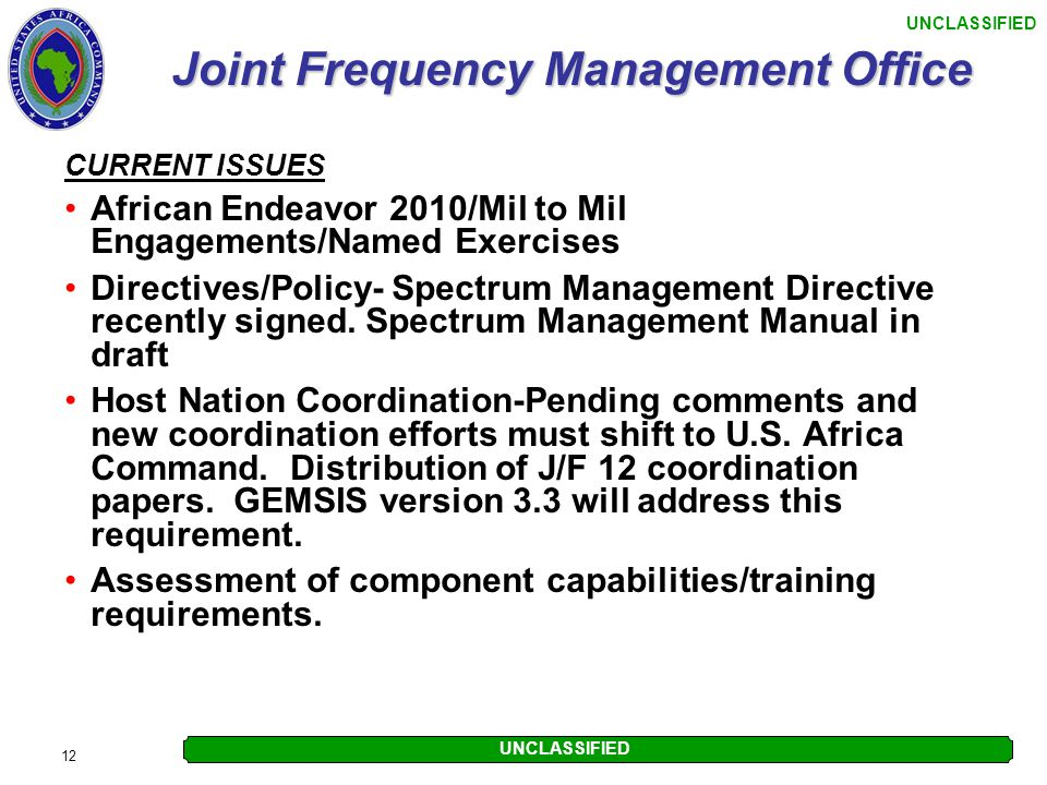 Joint Frequency Management Office